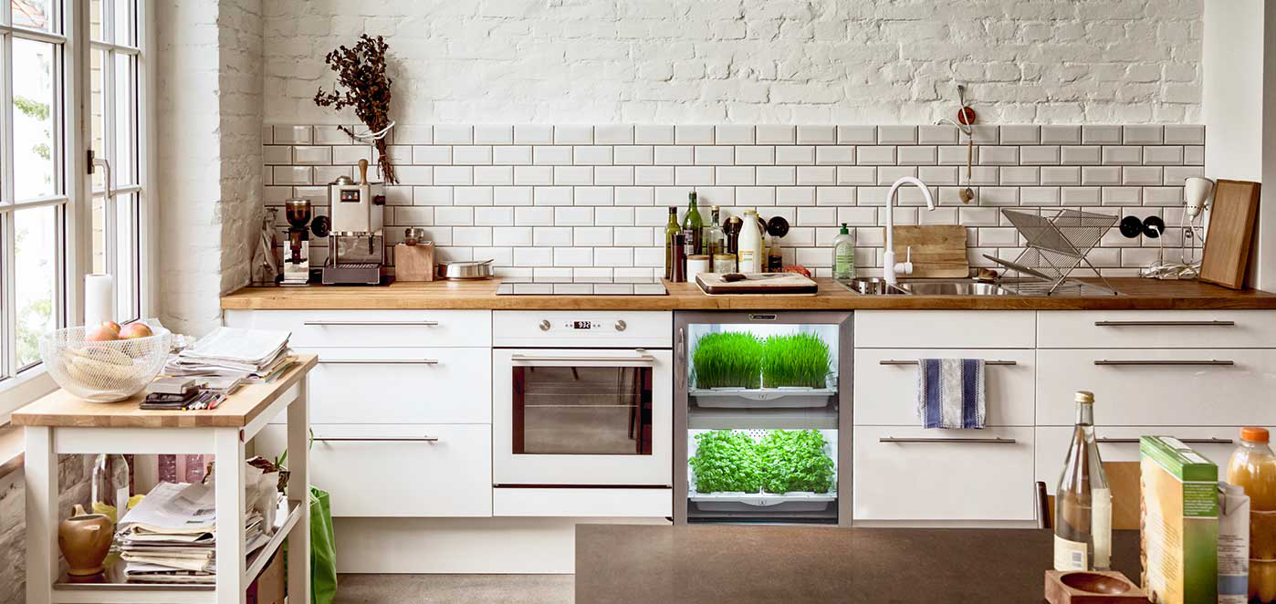 NEW TREND OF MODERN CITIES -KITCHEN NANO GARDENS