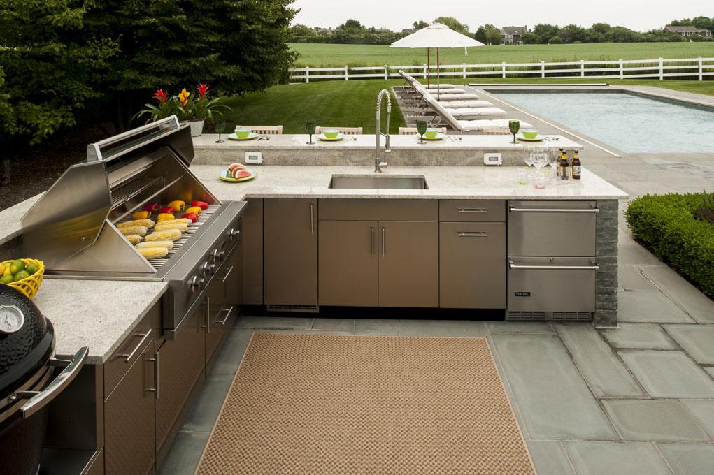 simple outdoor kitchen design