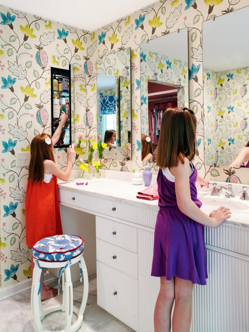 girl bathroom designs