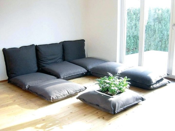 Design living room without sofa