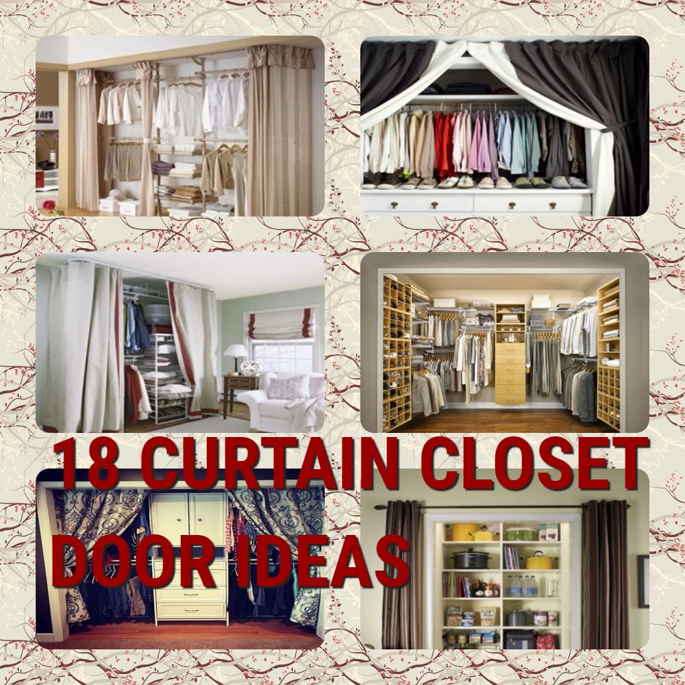 18 Tidy Curtain Closet Doors To Conquer The Mess