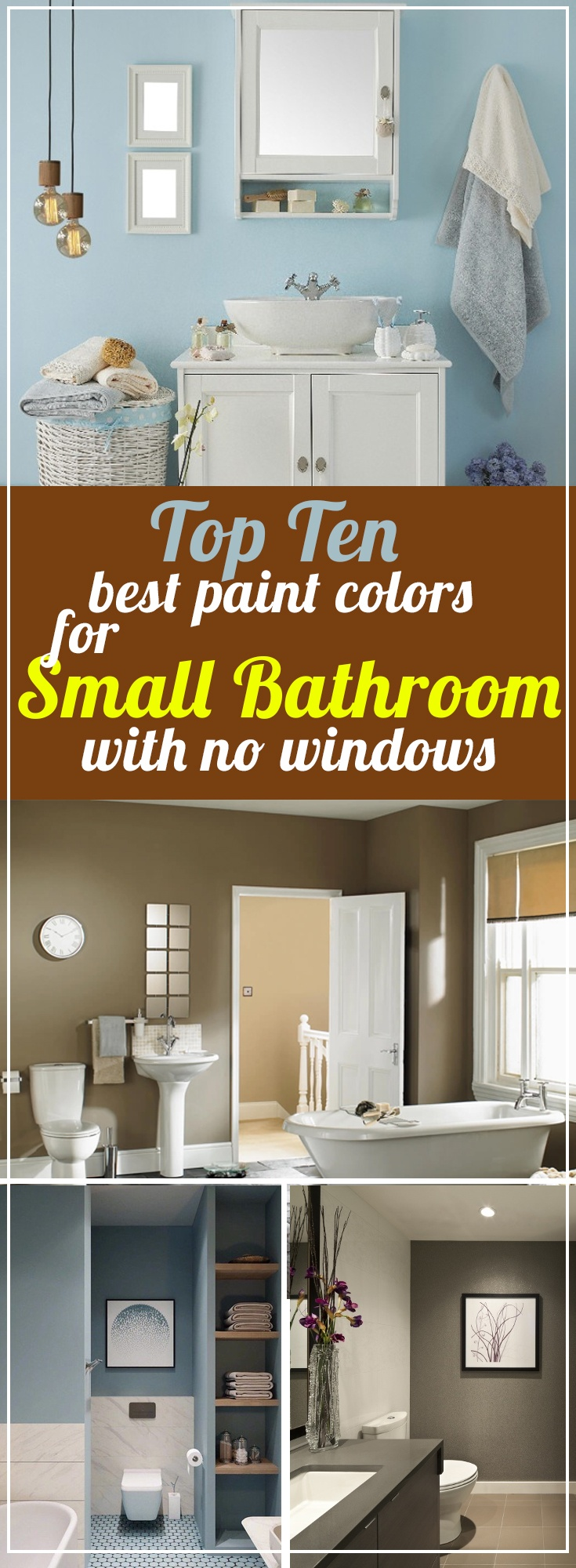 11 Best Paint Colors For Small Bathroom With No Windows