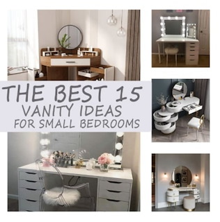 The best 15 vanity ideas for small bedrooms!