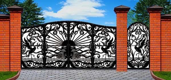 25 Unique Fence Gate Ideas