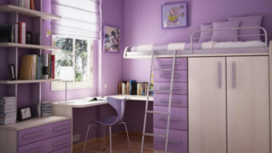 Purple teenage rooms