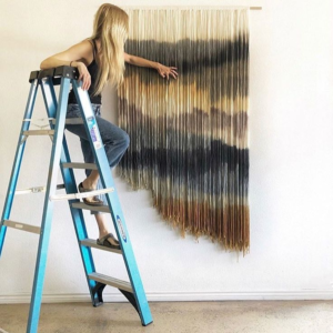 How to hang a tapestry on ceiling