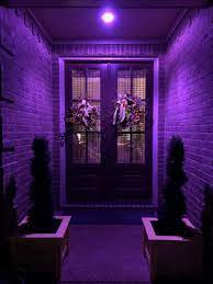 white porch light